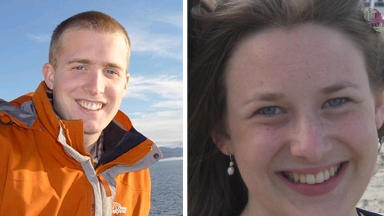 Climbers Christopher Bell and Una Finnegan who were killed in an avalanche in Glencoe.