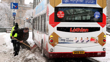 Edinburgh winter scene from December 6, 2010