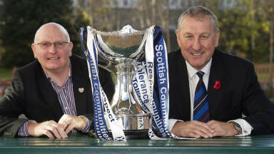 John McGlynn (Hearts) and Terry Butcher (Inverness), League Cup, November 2012.