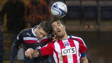 Colin Nish and Mani Pascali, Dundee v Kilmarnock, January 2013.