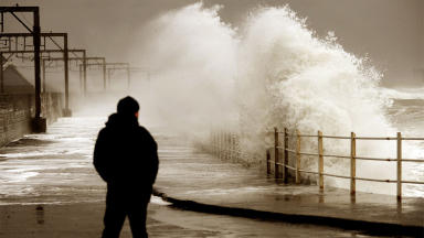 Storm and rain and high winds hit Saltcoats sea front quality image cropped