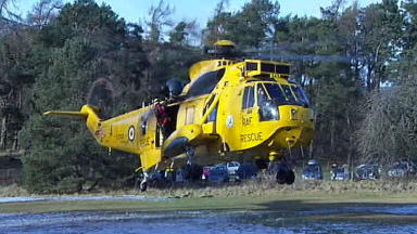 RAF Sea King rescue helicopter