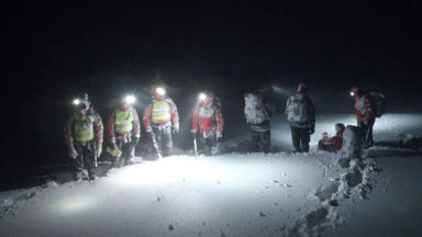 Cairngorm mountain rescue team.