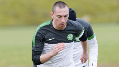 Celtic captain Scott Brown is put through his paces at Lennoxtown ahead of the Champions League clash with Juventus.