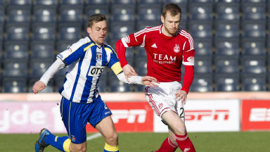 Kilmarnock drew 1-1 with Aberdeen at Rugby Park.