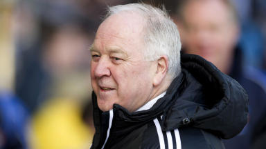 Craig Brown during Aberdeen's 1-1 draw with Kilmarnock.