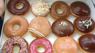 Doughnut demand: the Krispy Kreme craze still seems to grip the city.