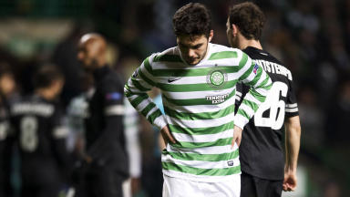 Dejection for Celtic's Tony Watt