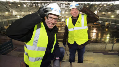 Sunshine duo: The Proclaimers will be performing at The Hydro which will be open to the public in September 2013.