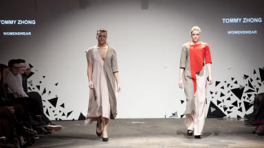 March showcase: Tommy Zhong's Rite of Spring inspired designs at the Arches.