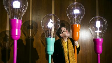 Glowing Idea: The idea of the light bulb revolves around this year's Festival theme.