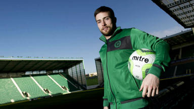 Lewis Stevenson, Hibernian, March 2013.