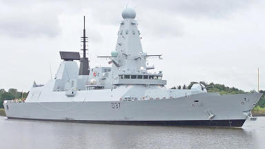 BAE Systems Type 45 Destroyer Duncan will leave its yard in Scotstoun for Royal Navy handover in Portsmouth.