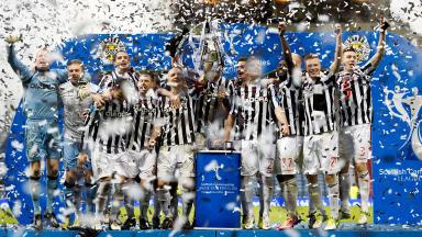 Scottish Communities League Cup winners St Mirren.