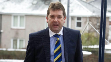 SFL Chief Executive David Longmuir arrives at Hampden ahead of another day of talks with the SFL clubs on plans for league reconstruction.