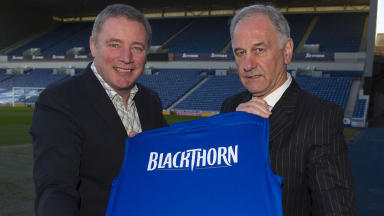 Rangers manager Ally McCoist (left) and chief executive Charles Green.