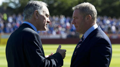 Rangers chief executive Charles Green (left) chats with manager Ally McCoist