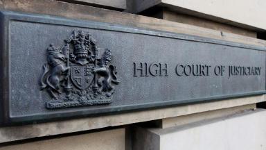 High Court in Edinburgh sign close quality image