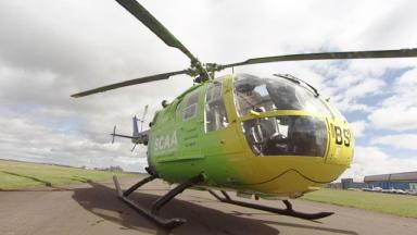 Air ambulance in Perth.