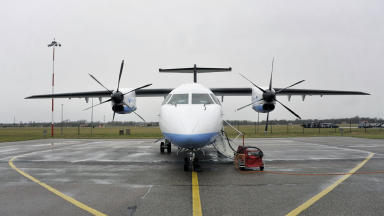 Plane fare: The discount is available across 19 Scottish routes (file pic).