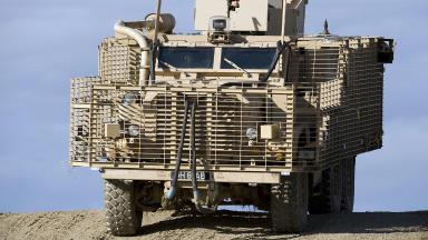 British Army Mastiff 2 armoured vehicle