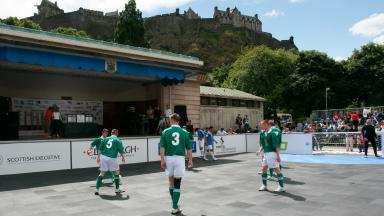 Street Football: The tournament in support of the Homeless World Cup.