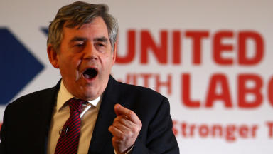 Gordon Brown United with Labour referendum no campaign launch 13 May 2013