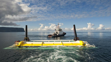 Aquamarine Power: Oyster system tested near Orkney.
