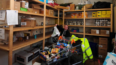 Food banks: Demand has risen at one food bank by more than 230%.