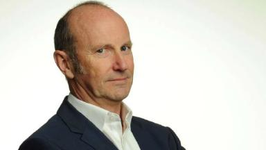 Stepping out: Fred MacAulay is supporting Mark
