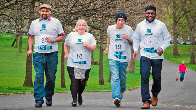 Ahmadiyya Muslim Association launch their annual Yorkhill 5k fun run.