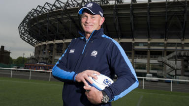 All smiles from Vern Cotter as he's formally named as the next Scotland rugby manager