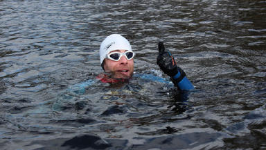 Loch swim: This was the final water stage