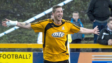 Alloa Athletic striker Calum Elliot.