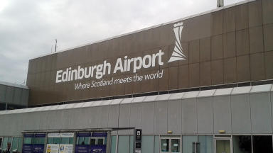 Edinburgh Airport: The new route could lead to easier connections to Asia (file pic).