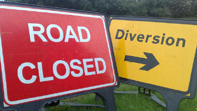 Alternative route: A 60-mile diversion in in place.