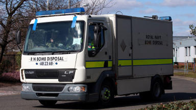 Royal Navy bomb Disposal vehicle quality image emergency services eod