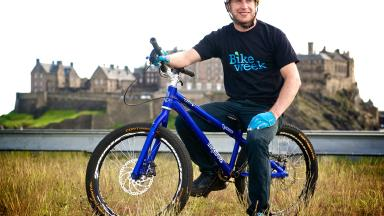 Riding high: Danny MacAskill is backing Scotland's Bike Week events.