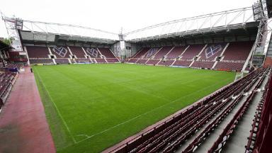 Hearts of Midloathian's home stadium, Tynecastle.