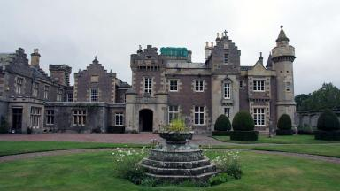 Abbotsford House, home of Sir Walter Scott in Melrose, Borders.