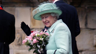 Quality image of Her Majesty the Queen at Holyrood Palace in July 2013.