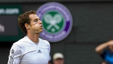 Andy Murray, Wimbledon, July 2013.