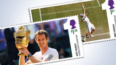 Andy Murray Wimbledon stamps.