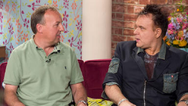 Assisted suicide: Peter Squires (left) and Mik Scarlet debate the issue