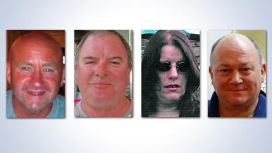 Victims of Shetland helicopter crash on August 24 2013: Duncan Munro, Gary McCrossan, George Allison, Sarah Darnley.