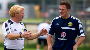 Gordon Strachan is still considering his options before picking his team to face Macedonia.