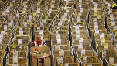 Generic Royal Mail parcels delivery centre.