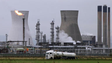 Ineos plant: Grangemouth warning system to be tested (file pic).
