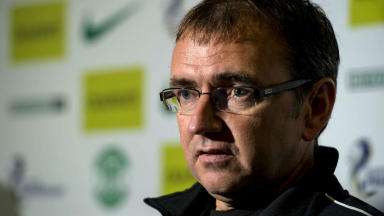 Pat Fenlon, Hibernian, October 2013.