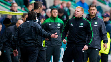 Pat Fenlon and Neil Lennon offered differing opinions over the nature of Hibernian's tackling.